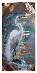 Copper Egret Bath Towel