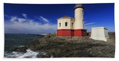 Coquille River Lighthouse 3 Bath Towel