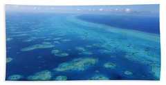 Coral Reef In The Sea, Belize Barrier Hand Towel