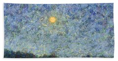 Hand Towel featuring the painting Cornbread Moon - Square by James W Johnson