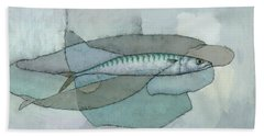 Cornish Mackerel Hand Towel
