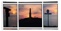 Hand Towel featuring the photograph Cornish Sunsets by Terri Waters