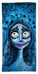 Corpse Bride Phone Sketch Hand Towel by Alessandro Della Pietra