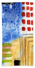 Corridor- Colorful Contemporary Abstract Painting Bath Towel