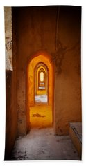 Corridor In The Real Alcazar Of Seville Bath Towel