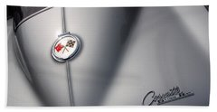 Hand Towel featuring the photograph Corvette Sting Ray 1963 by John Schneider