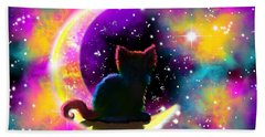 Cosmic Cat Bath Towel