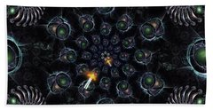 Bath Towel featuring the digital art Cosmic Embryos by Shawn Dall
