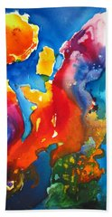 Cosmic Fire Abstract  Hand Towel by Carlin Blahnik