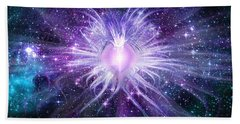 Bath Towel featuring the digital art Cosmic Heart Of The Universe by Shawn Dall