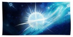 Bath Towel featuring the digital art Cosmic Icestream by Shawn Dall