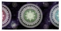 Cosmic Medallians Rgb 2 Hand Towel