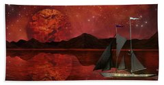 Bath Towel featuring the painting Cosmic Ocean by Michael Rucker