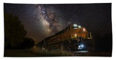Cosmic Railroad Bath Towel