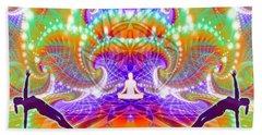 Hand Towel featuring the digital art Cosmic Spiral Ascension 60 by Derek Gedney