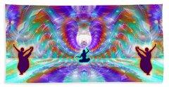 Hand Towel featuring the digital art Cosmic Spiral Ascension 71 by Derek Gedney