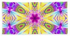 Hand Towel featuring the digital art Cosmic Spiral Kaleidoscope 06 by Derek Gedney