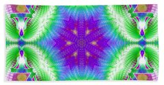 Cosmic Spiral Kaleidoscope 10 Bath Towel by Derek Gedney