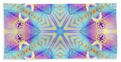 Bath Towel featuring the digital art Cosmic Spiral Kaleidoscope 17 by Derek Gedney