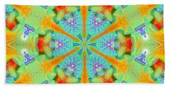 Cosmic Spiral Kaleidoscope 41 Bath Towel by Derek Gedney