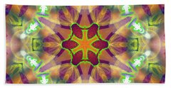 Bath Towel featuring the digital art Cosmic Spiral Kaleidoscope 42 by Derek Gedney