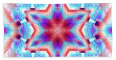 Cosmic Spiral Kaleidoscope 45 Bath Towel by Derek Gedney
