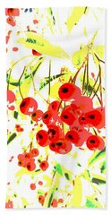 Hand Towel featuring the photograph Cotoneaster by Barbara Moignard