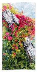 Hand Towel featuring the painting Country Rose by Janine Riley