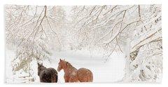 Country Snow Bath Towel by Cheryl Baxter