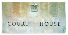 Court House Sign Hand Towel