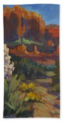 Courthouse Rock Sedona Hand Towel by Diane McClary