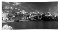Cove In Black And White Bath Towel