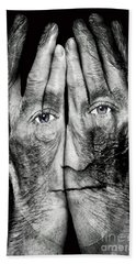 Cover Thy Faces Hand Towel by Gary Keesler