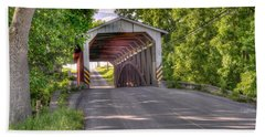 Hand Towel featuring the photograph Covered Bridge by Jim Thompson