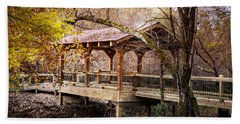 Covered Bridge On The River Walk Bath Towel