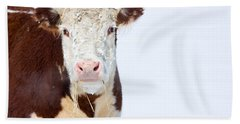 Cow - Fine Art Photography Print Bath Towel