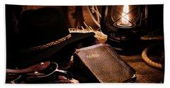 Cowboy Bible Hand Towel