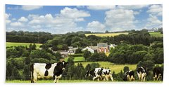Cows In A Pasture In Brittany Hand Towel