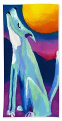 Bath Towel featuring the painting Coyote Azul by Stephen Anderson