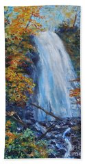 Crab Apple Falls Hand Towel by Stanton Allaben