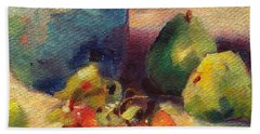 Hand Towel featuring the painting Crab Apples And Pears by Michelle Abrams