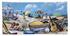 Crab Pickin Bath Towel by Gail Butler