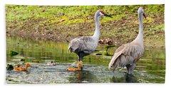 Crane Family Swim II Hand Towel