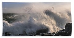 Hand Towel featuring the photograph Crashing Surf by Marty Saccone