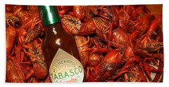 Crawfish And Tabasco Bath Towel by Donna G Smith
