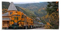 Crawford Notch Train Depot Hand Towel by Adam Jewell