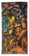 Hand Towel featuring the pastel Creation Creacion by Lazaro Hurtado