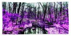 Creek By Purple Bath Towel