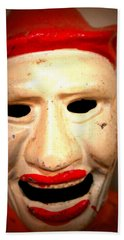 Creepy Clown Bath Towel by Lynn Sprowl