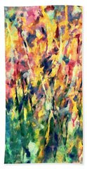 Crescendo Of Spring Abstract Hand Towel
